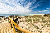 Zahara de los Atunes sandy beach and dunes,Spain