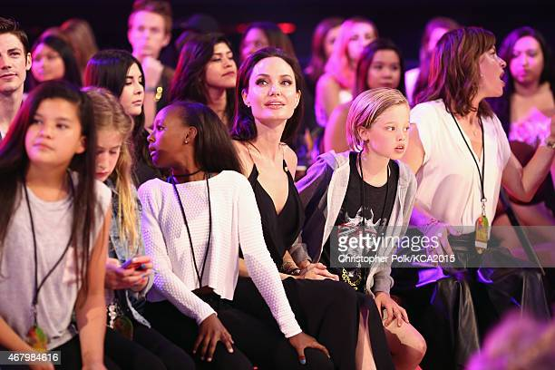 Zahara JoliePitt actress Angelina Jolie and Shiloh JoliePitt attend Nickelodeon's 28th Annual Kids' Choice Awards held at The Forum on March 28 2015...