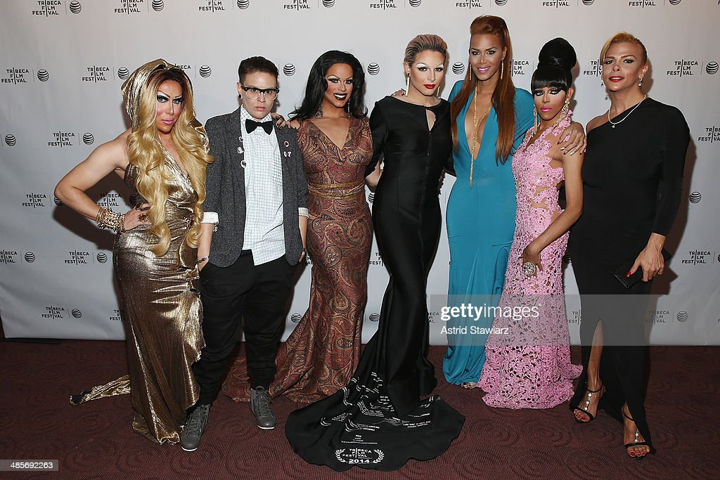Zahara Montiere, Paxx Moll, Rochelle Mon Cheri, April Carrion, Ivana Fred, Queen Bee Ho, and Sandy Alvarado attend the 'Mala Mala' Premiere during the 2014 Tribeca Film Festival at Chelsea Bow Tie Cinemas on April 19, 2014 in New York City.