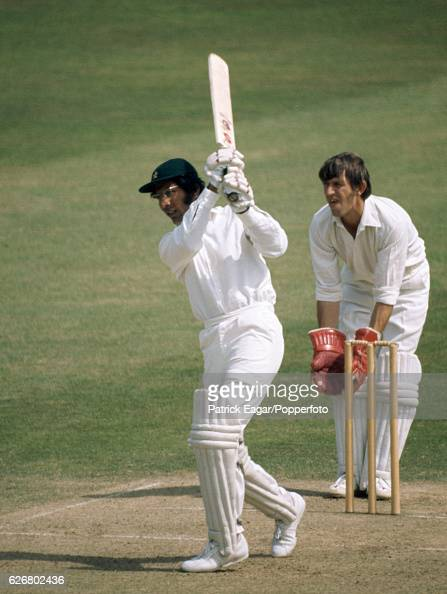 Zaheer Abbas batting for Pakistan during the tour match between Kent and the Pakistanis at the St Lawrence Ground Canterbury 8th July 1974 The...