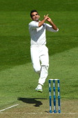 Zaheer Khan of India bowls during day one of the 2nd Test match between New Zealand and India on February 14 2014 in Wellington New Zealand