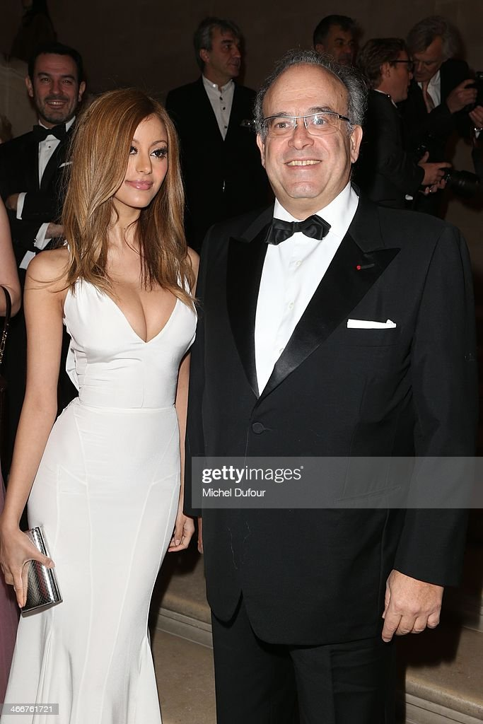 Zahia Dehar and David Khayat attend the David Khayat Association 'AVEC' Gala Dinner on February 3 2014 in Versailles France