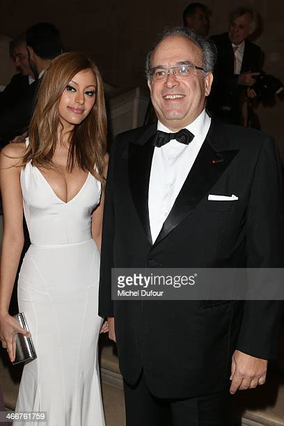 Zahia Dehar and David Khayat attend the David Khayat Association 'AVEC' Gala Dinner on February 3 2014 in Versailles France