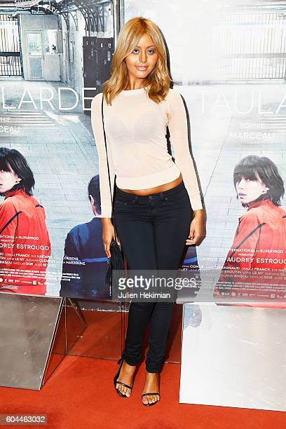 Zahia Dehar attends 'La Taularde' Paris Premiere at UGC Cine Cite des Halles on September 13 2016 in Paris France