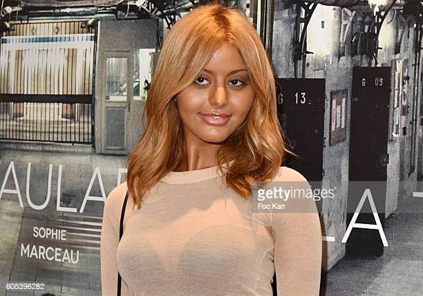 Zahia Dehar attends 'La Taularde' Paris Premiere At UGC Cine Cite Les Halles on September 13 2016 in Paris France