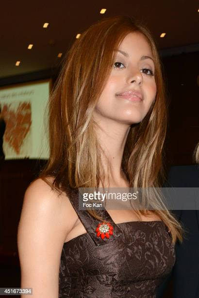 Zahia Dehar attends 'Les CÏurs des Createurs' Auction Cocktail in profit of 'La Chaine de L'Espoir' Association at Christie's on July 3 2014 in Paris...