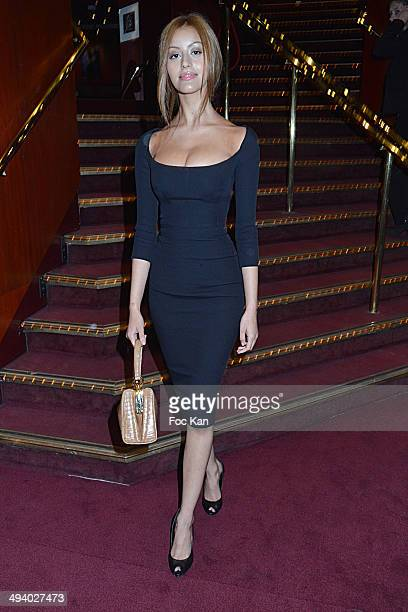Zahia Dehar attends 'Mugler Follies' 100th Edition at Le Comedia on May 26 2014 in Paris France