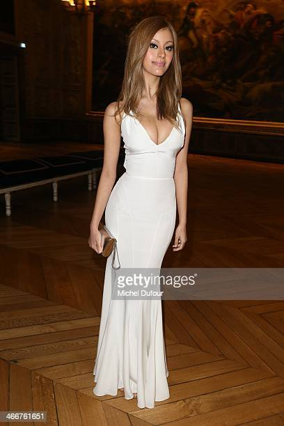 Zahia Dehar attends the David Khayat Association 'AVEC' Gala Dinner on February 3 2014 in Versailles France