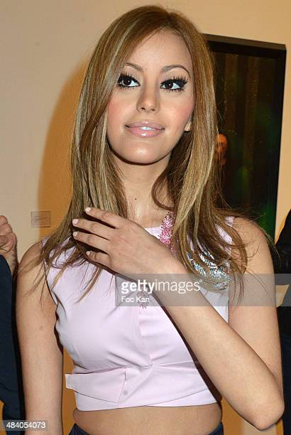 Zahia Dehar attends the 'Heros' Pierre et Gilles Exhibition At Galerie Templon on April 10 2014 in Paris France