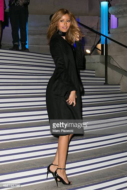 Zahia Dehar attends the 'Jean Paul Gaultier' exhibition opening cocktail at Grand Palais on March 30 2015 in Paris France