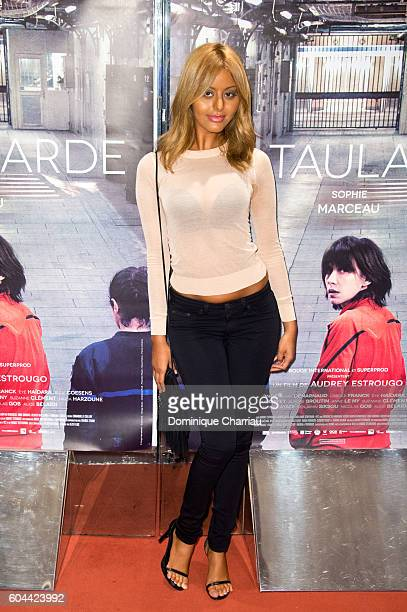 Zahia Dehar attends the 'La Taularde' Paris Premiere at UGC Cine Cite des Halles on September 13 2016 in Paris France