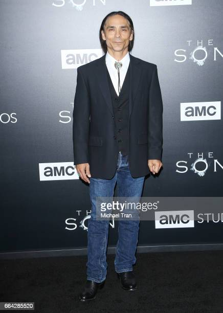 Zahn McClarnon arrives at the Los Angeles premiere of AMC's 'The Son' held at ArcLight Hollywood on April 3 2017 in Hollywood California