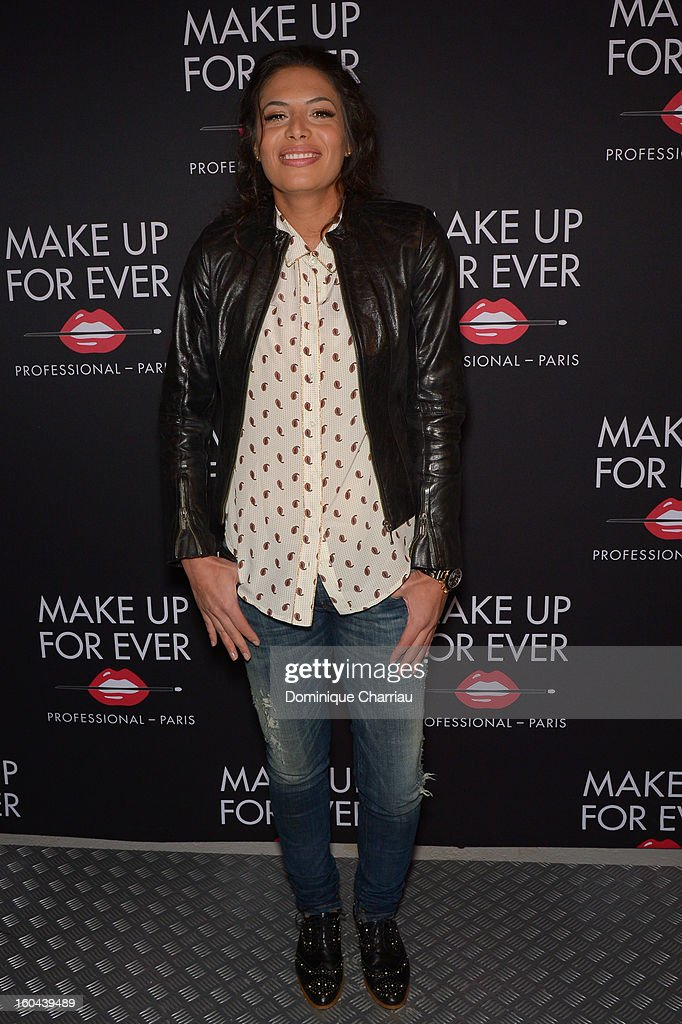 Zaho attends the Make Up For Ever Party at Palais De Tokyo on January 31, 2013 in Paris, France.