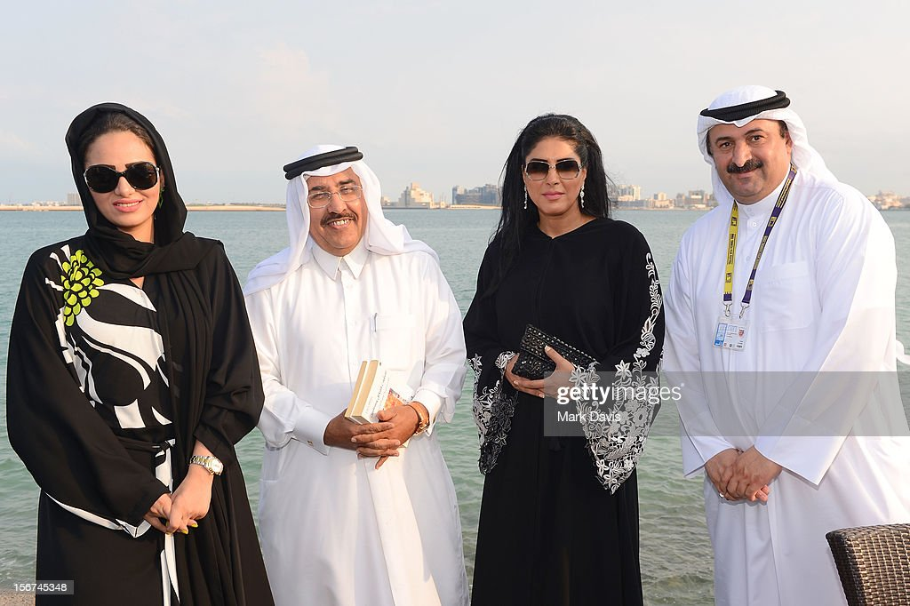 Zahra Arafat (2nd from R) at the Arab Guests Lunch during the 2012 Doha Tribeca Film Festival at the Al Mourjan Restaurant on November 20, 2012 in Doha, Qatar.
