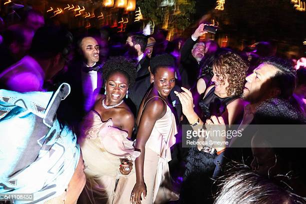 Zainab Jah Lupita Nyong'o and Liesl Tommy at the Hamilton afterparty for the Tony Awards at Tavern on the Green in New York NY on June 13 2016