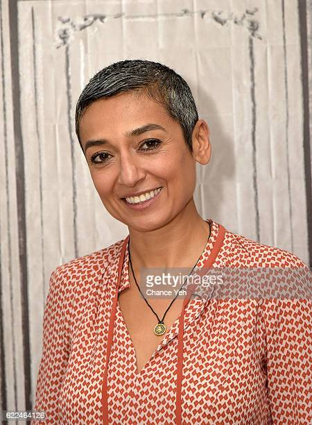 Zainab Salbi attends The Build Series to discuss The Huffington Post original series 'The Zainab Salbi Project' at AOL HQ on November 11 2016 in New...