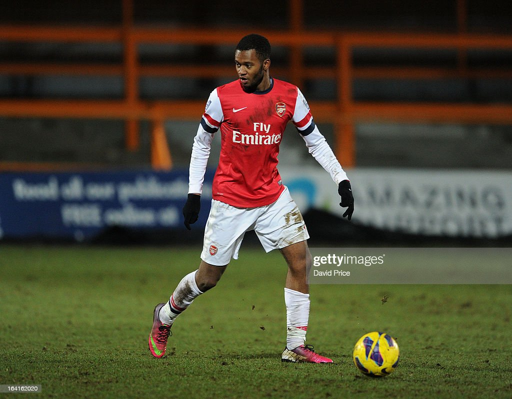 <a gi-track='captionPersonalityLinkClicked' href=/galleries/search?phrase=Zak+Ansah&family=editorial&specificpeople=7521729 ng-click='$event.stopPropagation()'>Zak Ansah</a> of Arsenal during the Barclays Premier U21 match between Arsenal U21 and Manchester United U21 at Underhill Stadium on March 20, 2013 in Barnet, United Kingdom.
