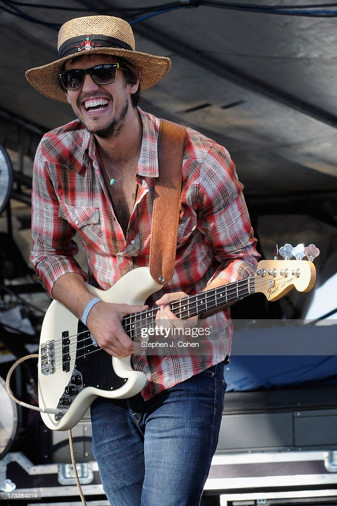 Zak Appleby of Houndmouth performs during the 2013 Forecastle Festival at Waterfront Park on July 12, 2013 in Louisville, Kentucky.