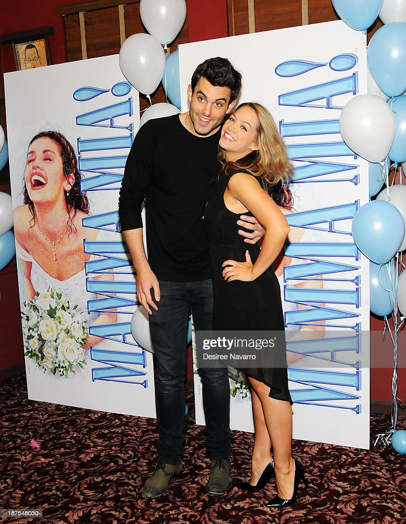 Zak Resnick and Laurie Veldheer attend the 5,000 performance celebration of 'Mamma Mia!' on Broadway at Sardi's on November 9, 2013 in New York City.