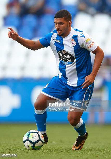 Zakaria Bakkali of Deportivo de La Coruna in action during the Pre Season Friendly match between Deportivo de La Corua and West Bromwich Albion at...