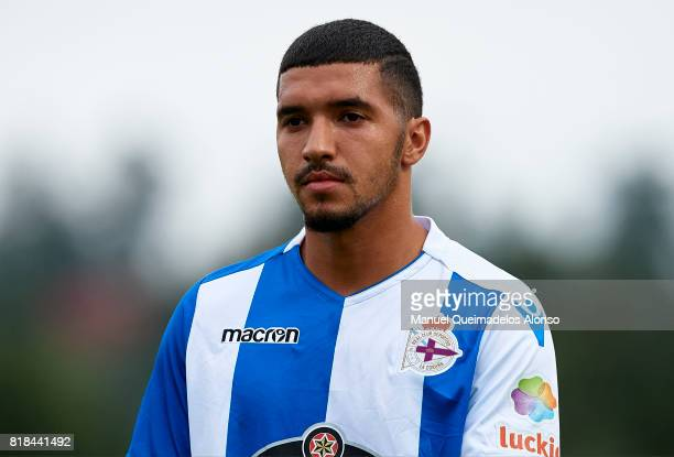Zakaria Bakkali of Deportivo de La Coruna looks on during the preseason friendly match between Cerceda and Deportivo de La Coruna at O Roxo Stadium...