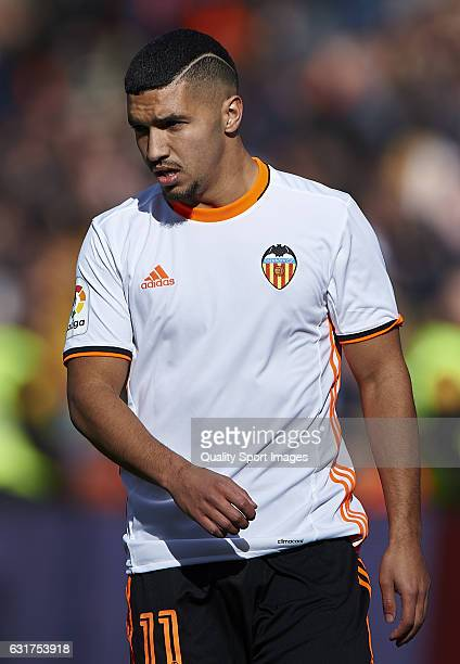 Zakaria Bakkali of Valencia looks on during the La Liga match between Valencia CF and RCD Espanyol at Mestalla Stadium on January 15 2017 in Valencia...