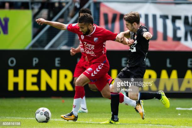 Zakaria Labyad of FC Utrecht Daniel Crowley of Willem II during the Dutch Eredivisie match between FC Utrecht and Willem II Tilburg at the...
