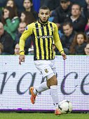 Zakaria Labyad of Vitesse during the Dutch Eredivisie match between Vitesse Arnhem and Feyenoord Rotterdam at Gelredome on November 09 2014 in Arnhem...