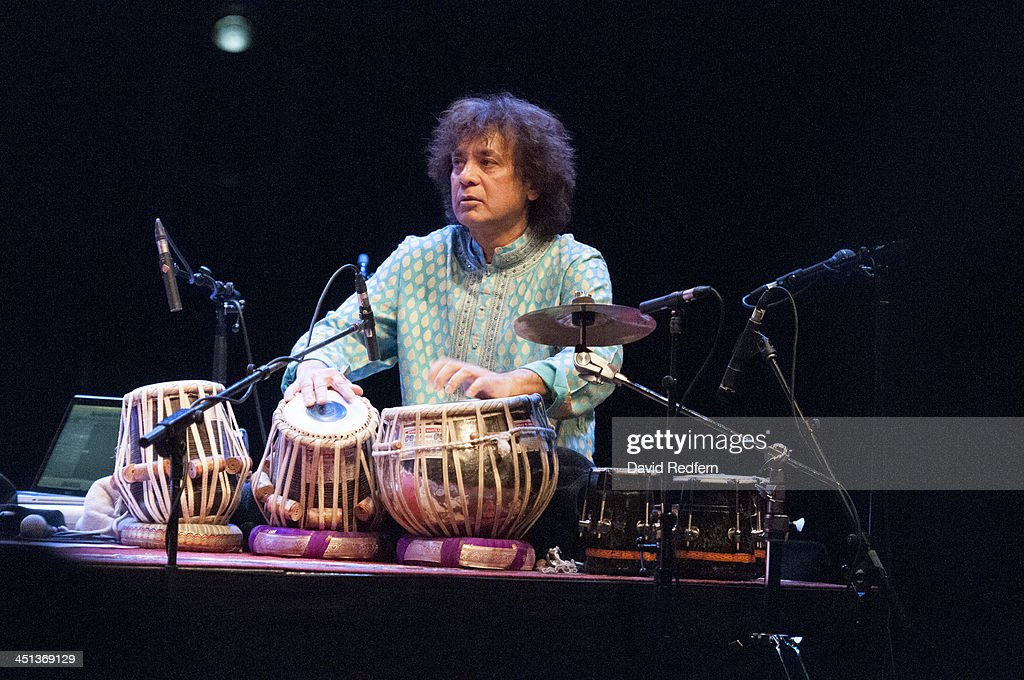 Zakir Hussain of Remember Shakti performs on stage during day 7 of London Jazz Festival at the Royal Festival Hall on November 21, 2013 in London, United Kingdom.