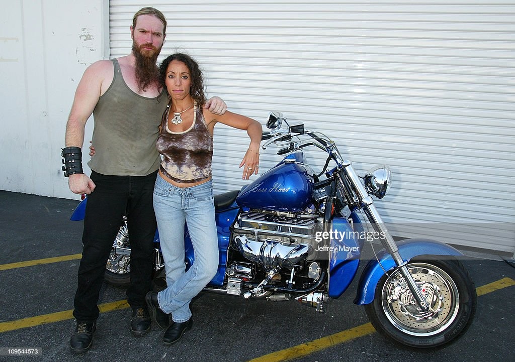 Ozzy Osbourne signs a 2003 Boss Hoss motorcycle for B.A.D.D. - Bikers Against Drunk Drivers