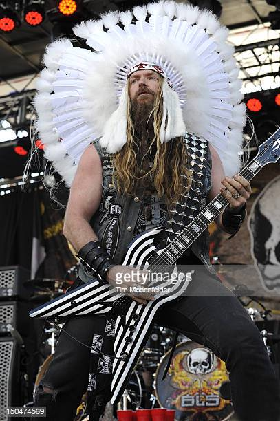 Zakk Wylde of Black Label Society performs as part of the 5th Annual Sunset Strip Music Festival on the Sunset Strip on August 18 2012 in West...