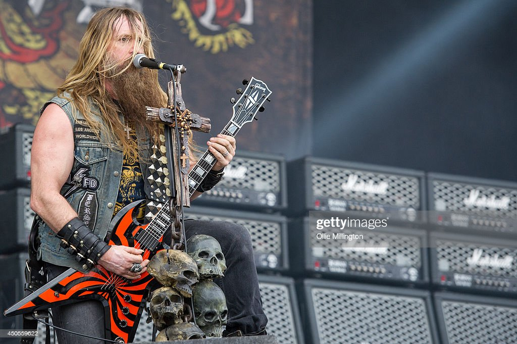 Zakk Wylde of Black Label Society performs on the main stage at Download Festival at Donnington Park on June 13, 2014 in Donnington, United Kingdom.