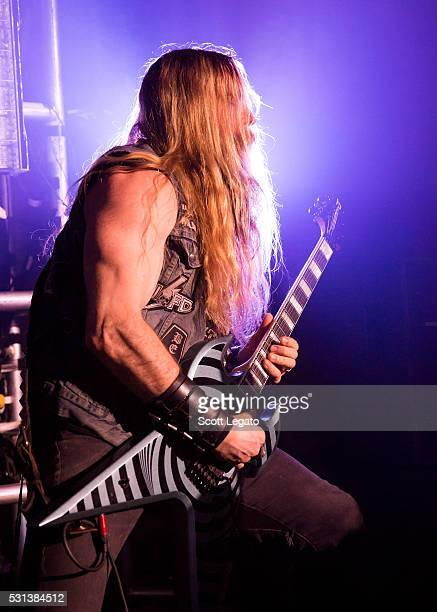 Zakk Wylde performs during the Generation Axe Tour at The Royal Oak Music Theater on May 2 2016 in Royal Oak Michigan