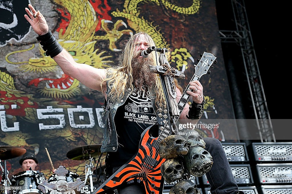 <a gi-track='captionPersonalityLinkClicked' href=/galleries/search?phrase=Zakk+Wylde&family=editorial&specificpeople=2090508 ng-click='$event.stopPropagation()'>Zakk Wylde</a> performs in concert with Black Label Society during the River City RockFest at the at&t Center on May 24, 2014 in San Antonio, Texas.