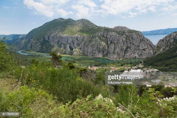 Zakucac Dalmatia Croatia Cetina river near the Zakucac Hydroelectric Power Plant