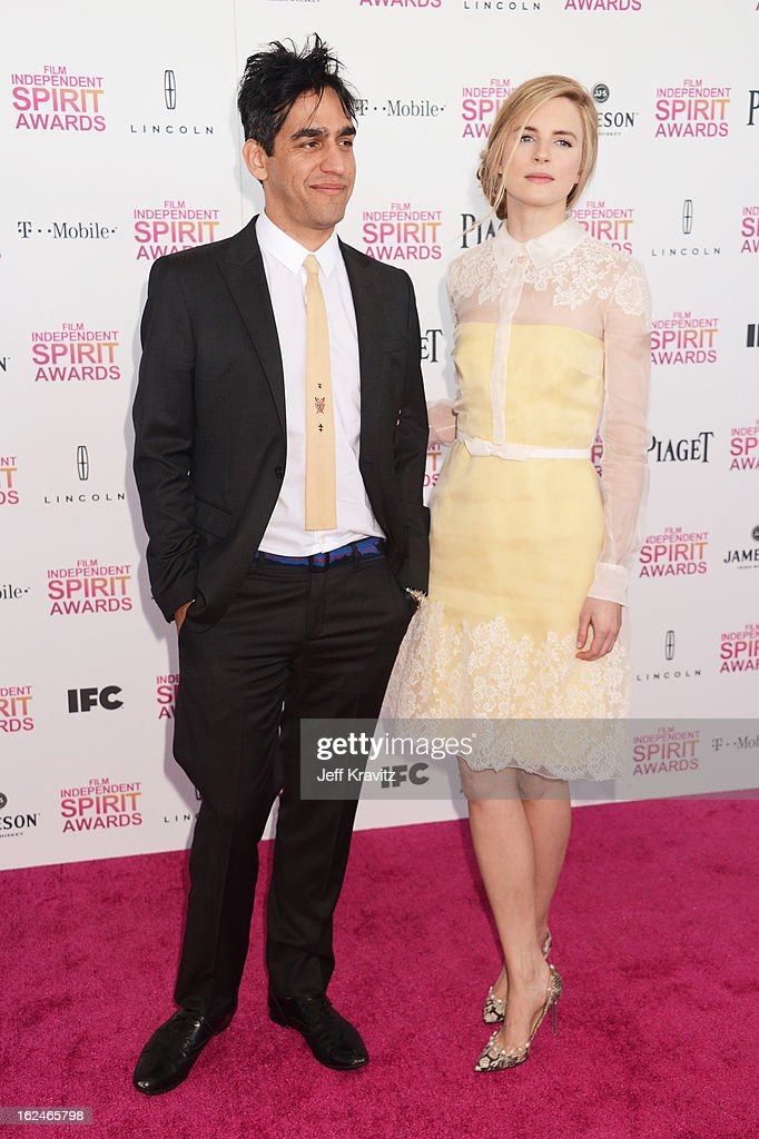 Zal Batmanglij and Brit Marling attend the 2013 Film Independent Spirit Awards at Santa Monica Beach on February 23, 2013 in Santa Monica, California.