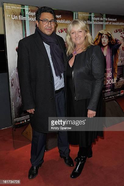 Zaman Hachemi and Charlotte de Turckheim attend the 'Syngue Sabour Pierre de Patience' Paris Premiere at UGC Cine Cite des Halles on February 14 2013...
