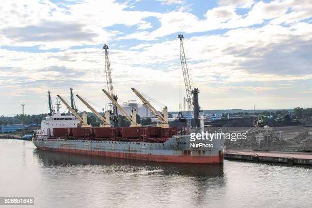 Zambesi ship is seen on 30 July 2017 in Swinoujscie Poland