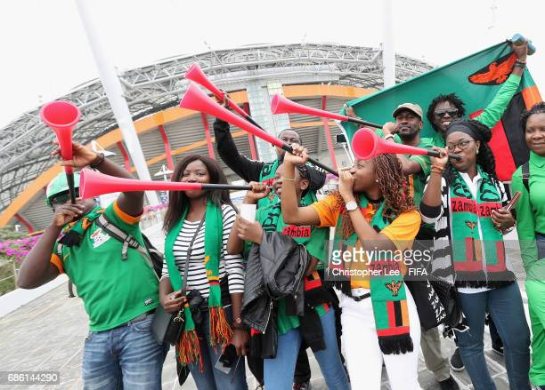 Zambia fans arrive for the match during the FIFA U20 World Cup Korea Republic 2017 group C match between Zambia and Portugal at Jeju World Cup...