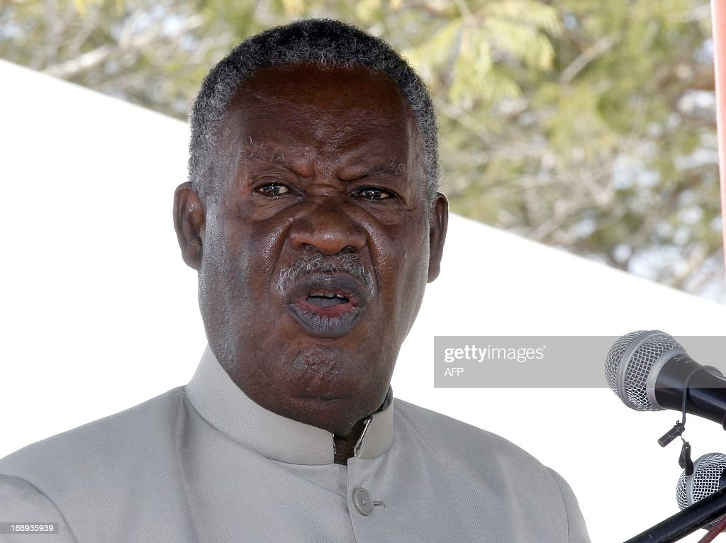 Zambia President <a gi-track='captionPersonalityLinkClicked' href=/galleries/search?phrase=Michael+Sata&family=editorial&specificpeople=1944545 ng-click='$event.stopPropagation()'>Michael Sata</a> delivers a speech on May 17, 2013 during the commissioning of the construction of Palabana University in Chongwe, 60 kms east of Lusaka. Sata ordered police to arrest and expel University of Zambia students who protested in Lusaka against the removal of fuel and mealie meal subsidies. In a country with high unemployment, 60 percent of people living in poverty and the average income at $3.45 a day, any significant increase will cause economic and social shocks. AFP PHOTO / CHIBALA ZULU