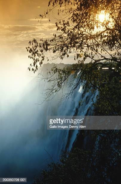 Zambia, Zambezi River, Victoria Falls, Eastern Cataract, sunset