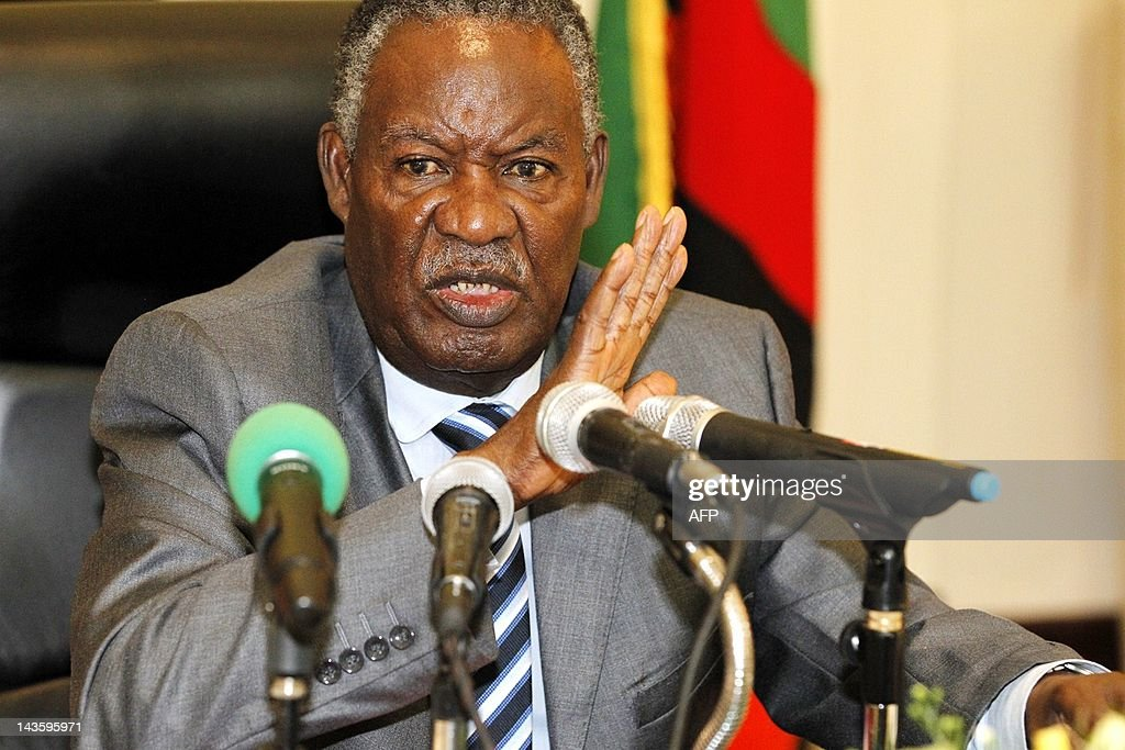 Zambia's President <a gi-track='captionPersonalityLinkClicked' href=/galleries/search?phrase=Michael+Sata&family=editorial&specificpeople=1944545 ng-click='$event.stopPropagation()'>Michael Sata</a> addresses the press at State House in Lusaka on April 30, 2012. <a gi-track='captionPersonalityLinkClicked' href=/galleries/search?phrase=Michael+Sata&family=editorial&specificpeople=1944545 ng-click='$event.stopPropagation()'>Michael Sata</a> announced the suspension of Supreme Court judge Philip Musonda and two High Court judges, Charles Kajimanga and Nigel Mutuna. AFP PHOTO / Joseph Mwenda