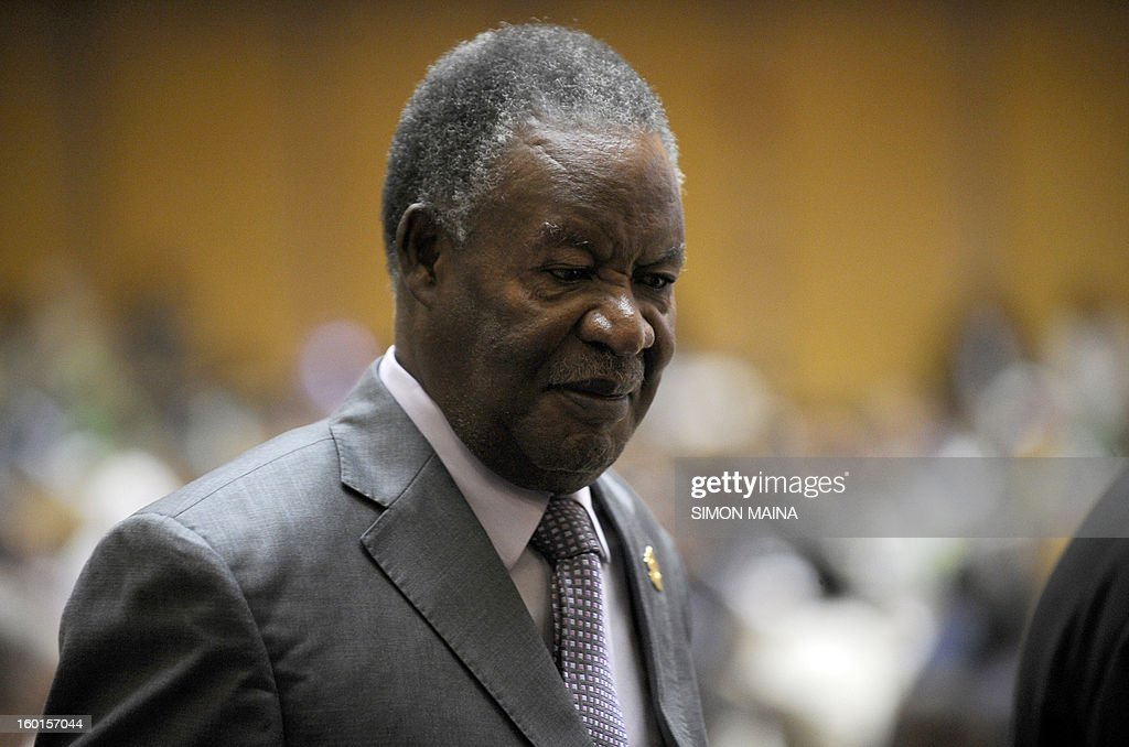 Zambia's president <a gi-track='captionPersonalityLinkClicked' href=/galleries/search?phrase=Michael+Sata&family=editorial&specificpeople=1944545 ng-click='$event.stopPropagation()'>Michael Sata</a> arrives at the 20th Ordinary Session of the Assembly of the Heads of State and Government (OSOA) during an African Union meeting on January 27, 2013 in Addis Ababa. The first day of the African Union Summit opened today with discussions on Mali troop deployment as well as the ongoing Sudan-South Sudan crisis expected to dominate proceedings. AFP PHOTO / SIMON MAINA
