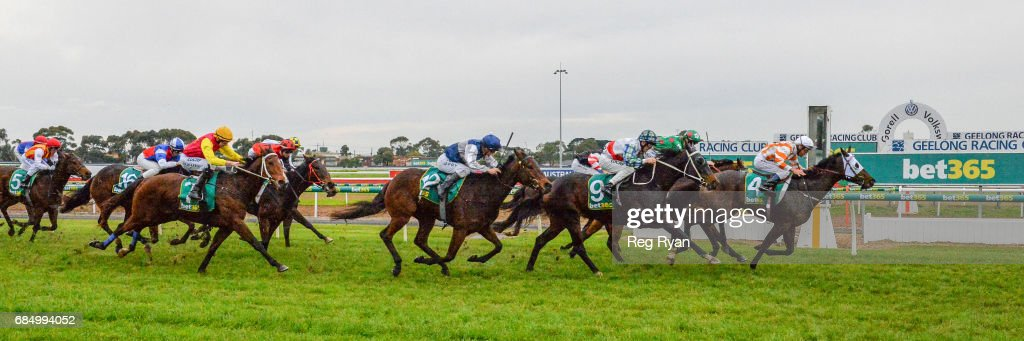 Zamboanga ridden by Damien Oliver wins the Rip Curl BM58 Handicap at Geelong Racecourse on May 19, 2017 in Geelong, Australia.