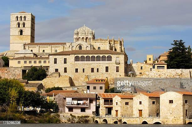 Zamora Romanesque cathedral and Douro river Via de la Plata Zamora province Castilla y Leon Spain