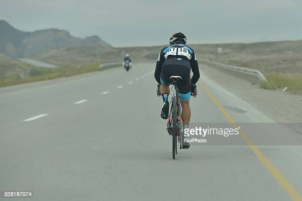 Zamri Saleh Mohd a rider from Terengganu Cycling Team during a dolo 0ver 70km breakaway at the opening stage of the 5th Tour d'Azerbaijan 2016 Baku...