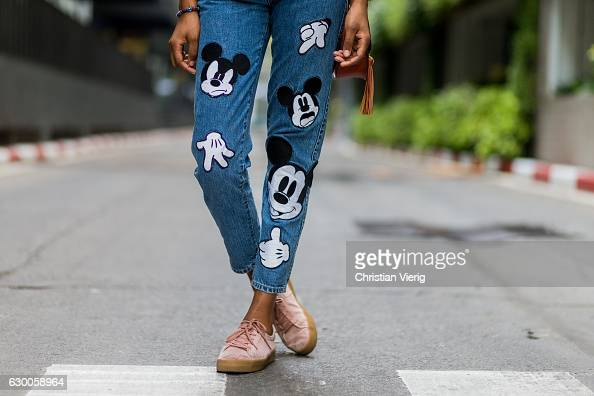 Image result for getty images denim with mickey mouse patches