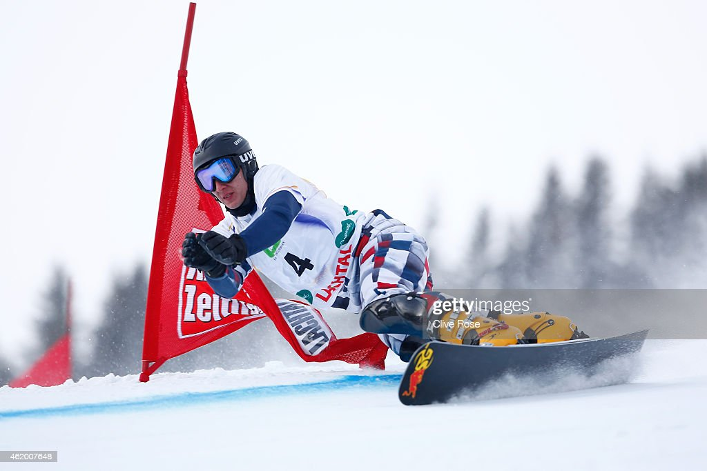 Zan Kosir of Slovenia competes in the Men's Parallel Giant Slalom Finals during the FIS Freestyle Ski and Snowboard World Championships 2015 on January 23, 2015 in Lachtal, Austria.