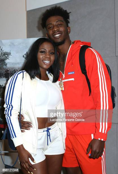 Zana Ray and rapper Desiigner attend the private screening of 20th Century Fox's 'War For The Planet Of The Apes' for DJ Khaled friends family at Fox...