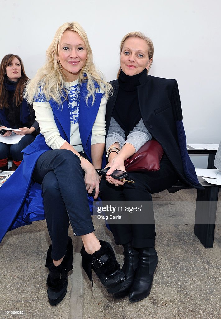 Zana Roberts Rassi and Alison Edmond attend the Derek Lam fall 2013 fashion show during Mercedes-Benz Fashion Week at Sean Kelly Gallery on February 10, 2013 in New York City.